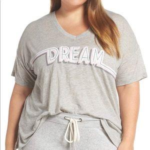 PJ Salvage Rose & Shine Tee Pajama Top Plus Size